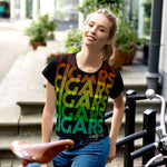 Victms 1975 Heritage - SOTL Retro Font Cigars All Over Crop Top
