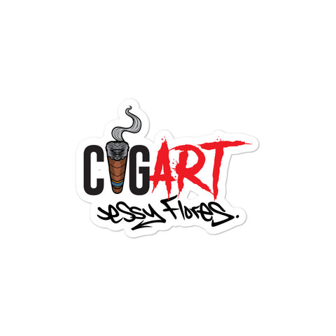 Cigar Art (CIGART) - Logo Bubble-Free Stickers