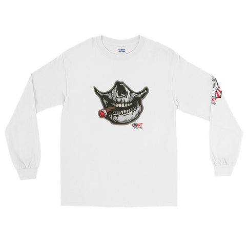 Cigar Art (CIGART) SMOKING SKULL Men's Long Sleeve Shirt