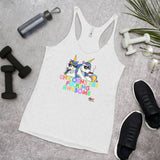 Victms 1975 Heritage Unicorns are Fucking Awesome Women's Racerback Tank