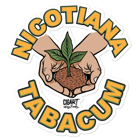Cigar Art (CIGART) - Nicotina Tabacum Bubble-Free Stickers