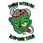 Cigar Art (CIGART) - Green Zombie Bubble Free Stickers