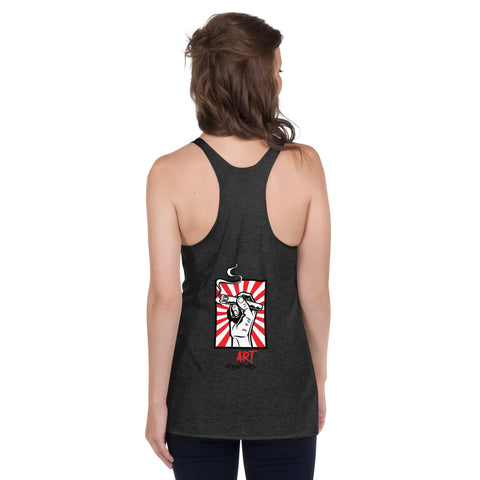 NEAL WOLLENBERG COLLABORATION SOTL IT'S TIME FOR ANOTHER Women's Racerback Tank