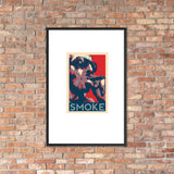 NEAL WOLLENBERG COLLABORATION BEER ART RETRO SMOKE Framed poster