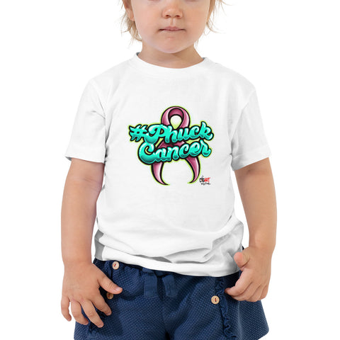 PHUCK CANCER Toddler Short Sleeve Tee