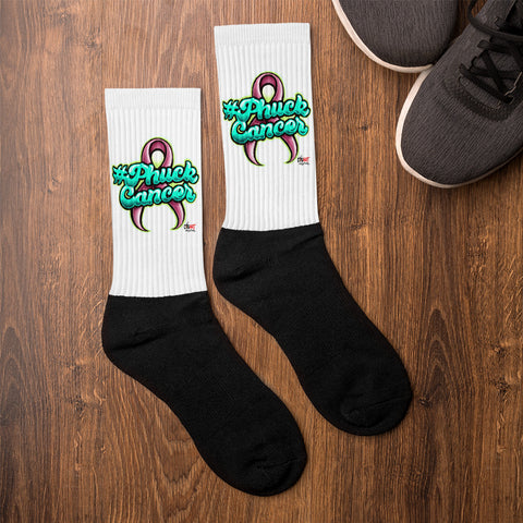 PHUCK CANCER Socks