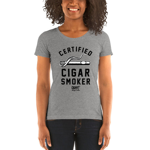 Cigar Art (CIGART) - SOTL Certified Cigar Smoker Form-Fitting Tee
