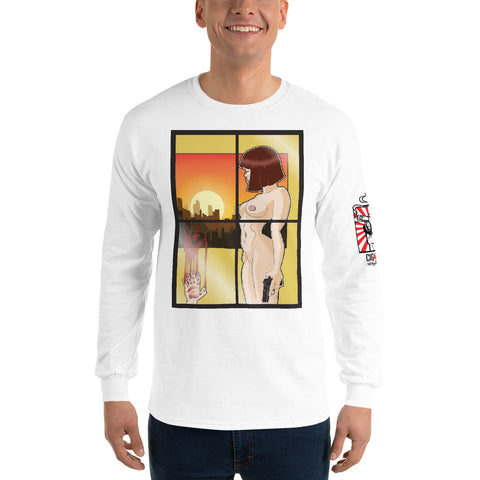 NEAL WOLLENBERG COLLABORATION BEER ART - WAVE THE 44 Men's Long Sleeve Shirt