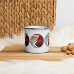 NEAL WOLLENBERG COLLABORATION BEER ART - LOVE/SIN Enamel Mug