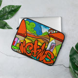 Victms 1975 Heritage - Nica Heritage Victms Orange Home Laptop Sleeve