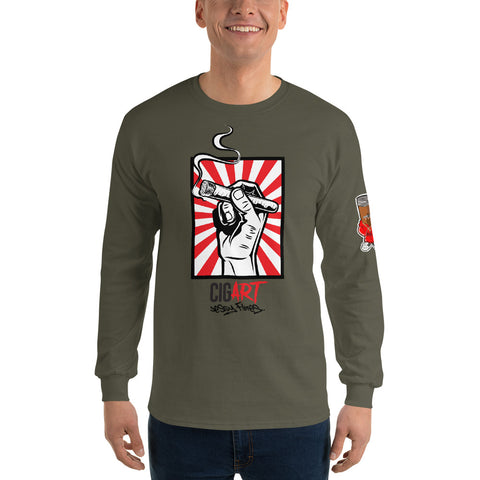 Cigar Art (CIGART) BOTL DEFENDING OUR CULTURE Men's Long Sleeve Shirt