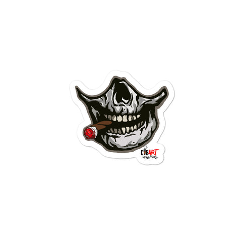 Cigar Art (CIGART) SMOKING SKULL Bubble-free stickers