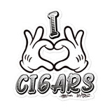Cigar Art (CIGART) I LOVE CIGARS Bubble-free stickers