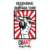 Cigar Art (CIGART) - Defending Our Culture Bubble-Free Stickers