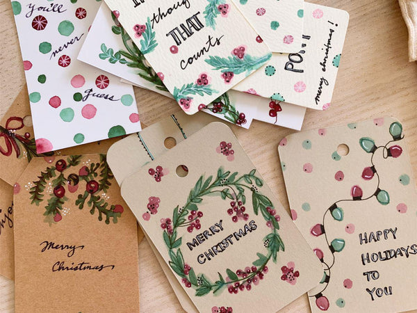 Crafted with Care: Handmade Gift Tags using Fountain Pens and Inks