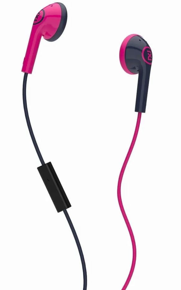 Skullcandy 2XL Offset Earbuds Pink/Black with Inline Mic