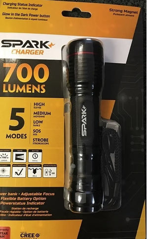 GENESIS SPARK CHARGER 700 LUMENS FLASHLIGHT SKF-700PB