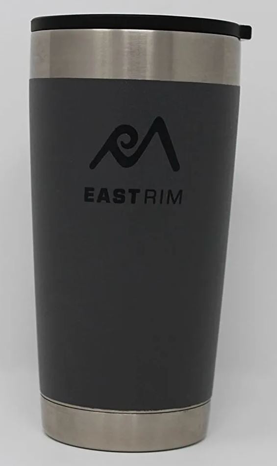 East Rim Pint Glass 17 oz Gray