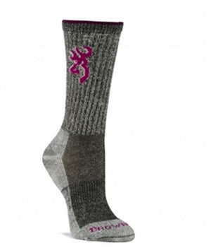 Browning Women's Midweight Year Rounder Crew Sock - Black