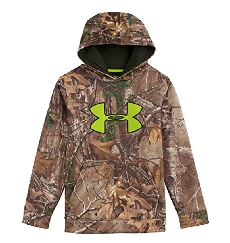 Under Armour Youth Scent Control Fleece Hoodie - Realtree Camo - Large