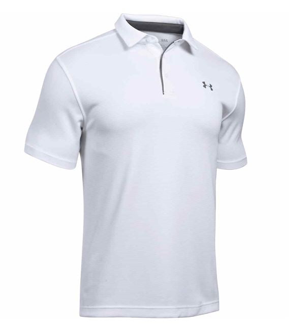 Under Armour Shirts: Men's Tech Moisture-Wicking White Polo