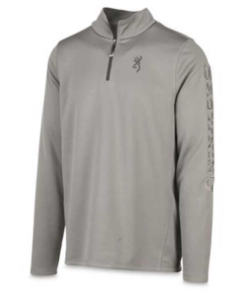 Browning Men's Pitch Quarter Zip Pullover - Grey