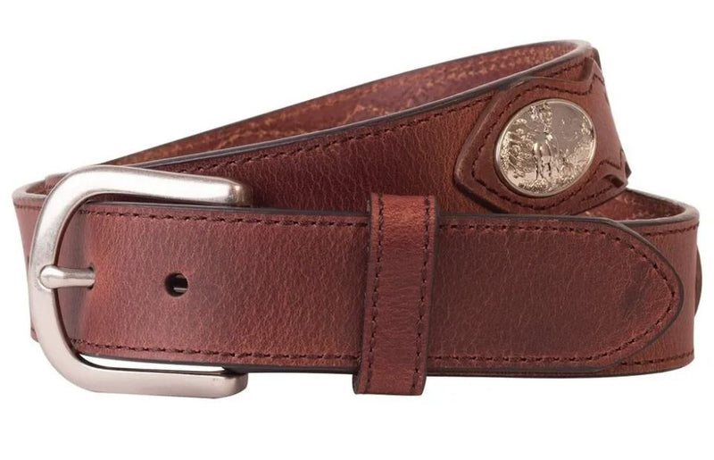 Browning Leather Belt with Deer Ornament 	BBE101002