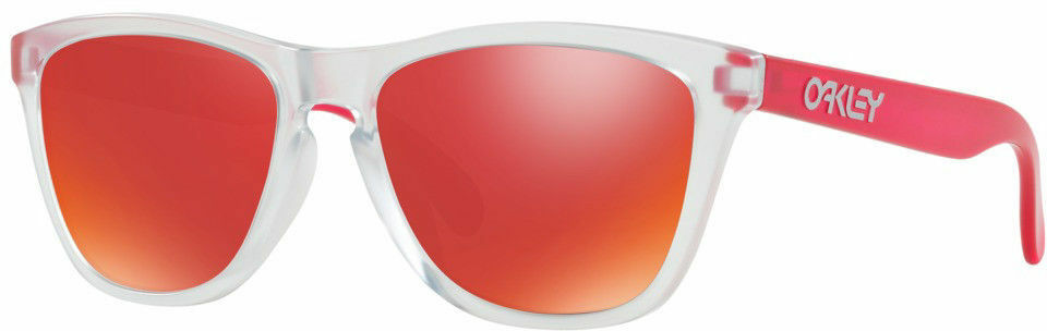 Oakley - Frogskins (A) (Matte Clear/Matte Pink/Iridium) Fashion Sunglasses - OO9245-5254
