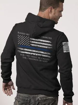 9 Line Men's Thin Blue Line Hoodie - Black - Large