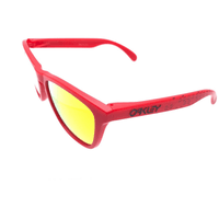 Oakley Frogskins Sunglasses Matte Red/Fire Iridium, One Size - OO9013-48