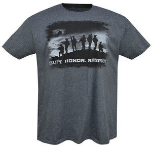 Duty Honor Respect Support our Troops Custom CZ Dan Wesson Ring Spun Soft T Shirt