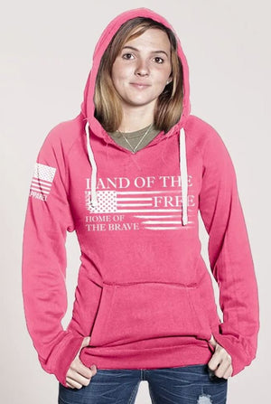 NineLine Women's Home of the Brave Hoodie - Pink