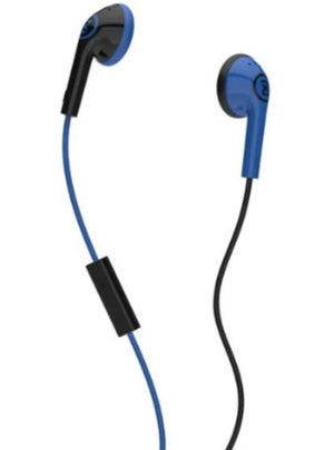 Skullcandy 2XL Offset Earbuds Black/Blue with Inline Mic