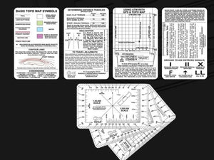 TransEquatorial Solutions Navigation Card 5 Card Set for Land Navigation