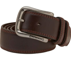 Browning Men's Embroidered Leather Belt