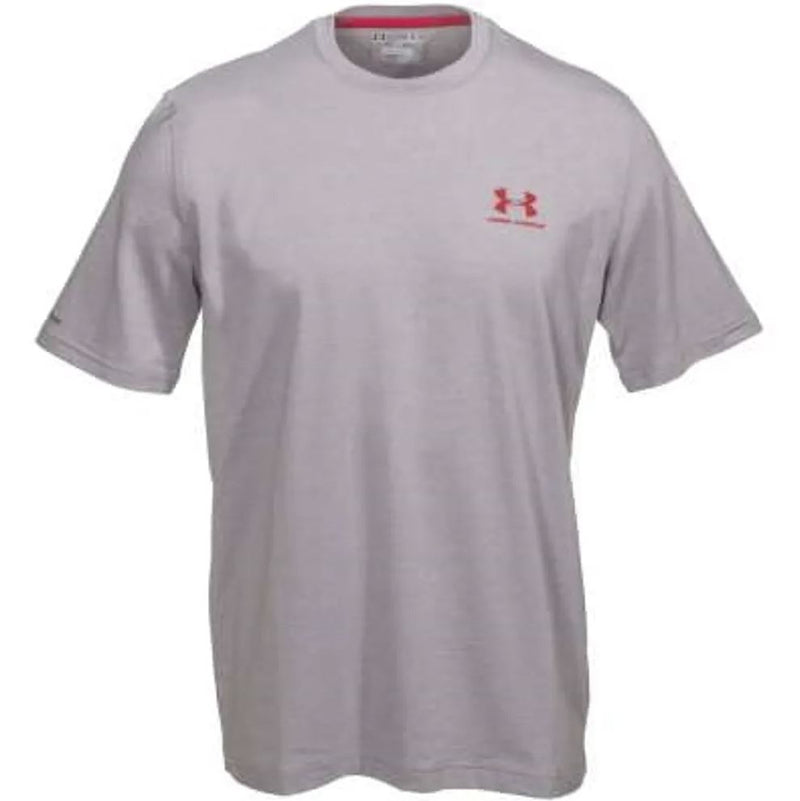 Under Armour Shirts: Men's Grey Charged Cotton Tee Shirt - Large