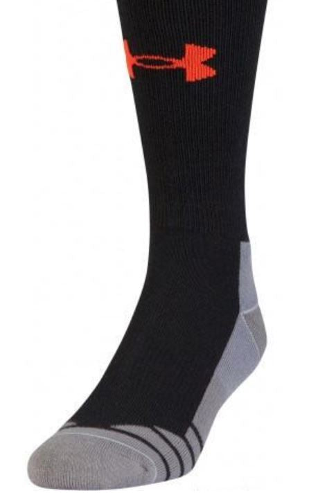 Under Armour Men's Hitch Light 3.0 Boot Socks - Black/Volcano - Medium