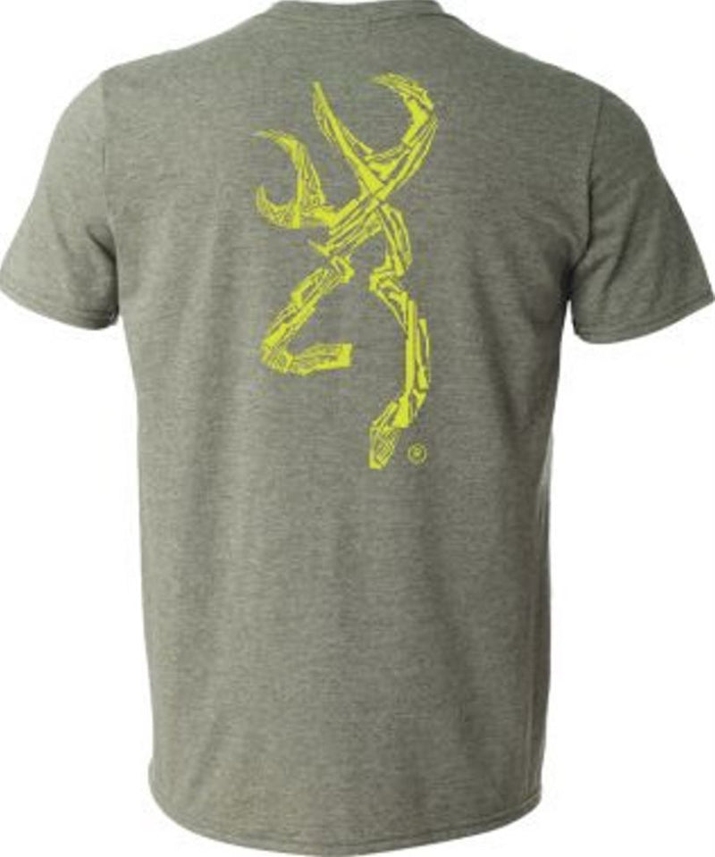 Browning Men's Gun Shapes Buckmark T-Shirt - Heather Military Green