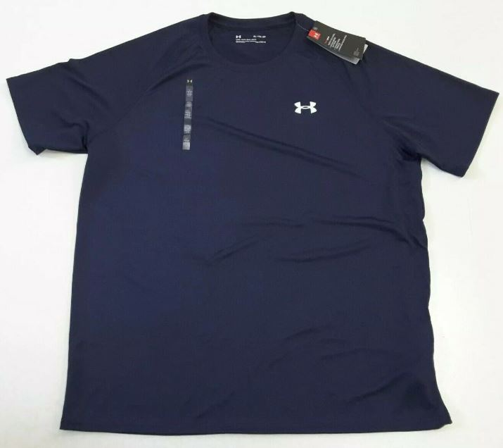 Under Armour Men's Navy Blue Tech Short Sleeve Shirt 1228539-410 - XL