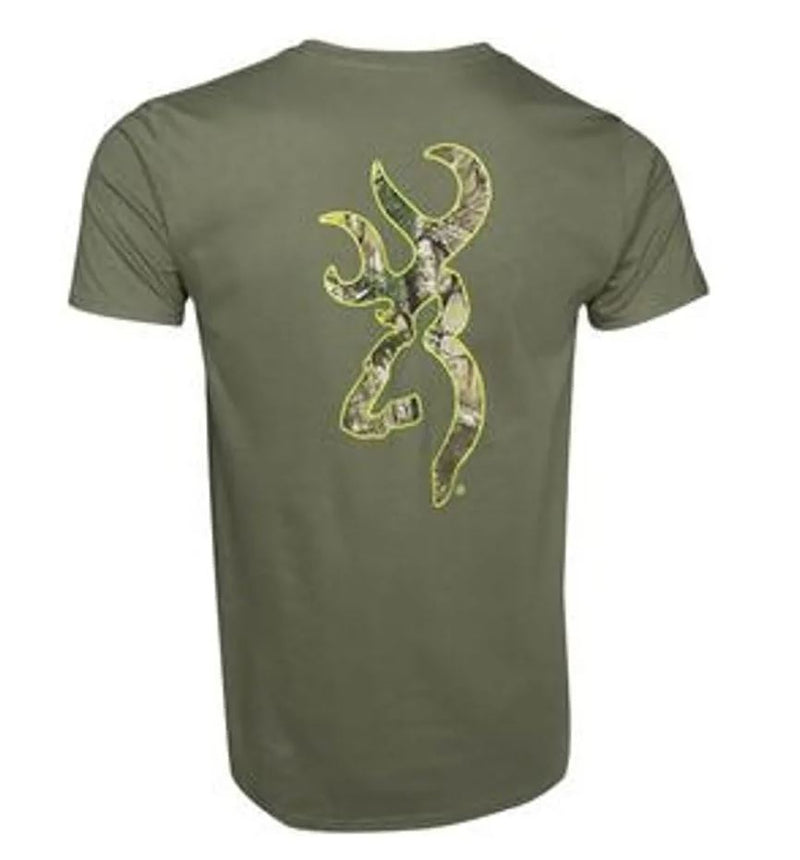 Browning RealTree Xtra Buckmark T-Shirt - Military Green