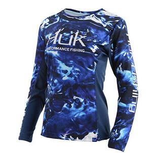 Huk Women's Camo Icon Long Sleeve H6120021-468