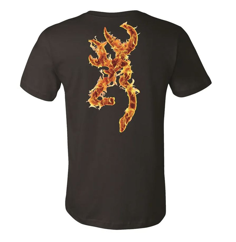 Browning Men's Hells Canyon Buckmark T-Shirt - Black
