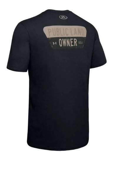 Under Armour 1344636-001 Public Land Owner T-Shirt - Men's - Black