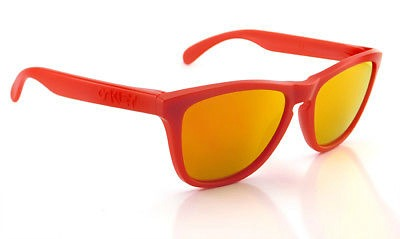 Oakley Frogskins Matte Red Frame Fire Iridium Lens Sunglasses -  OO9013-92