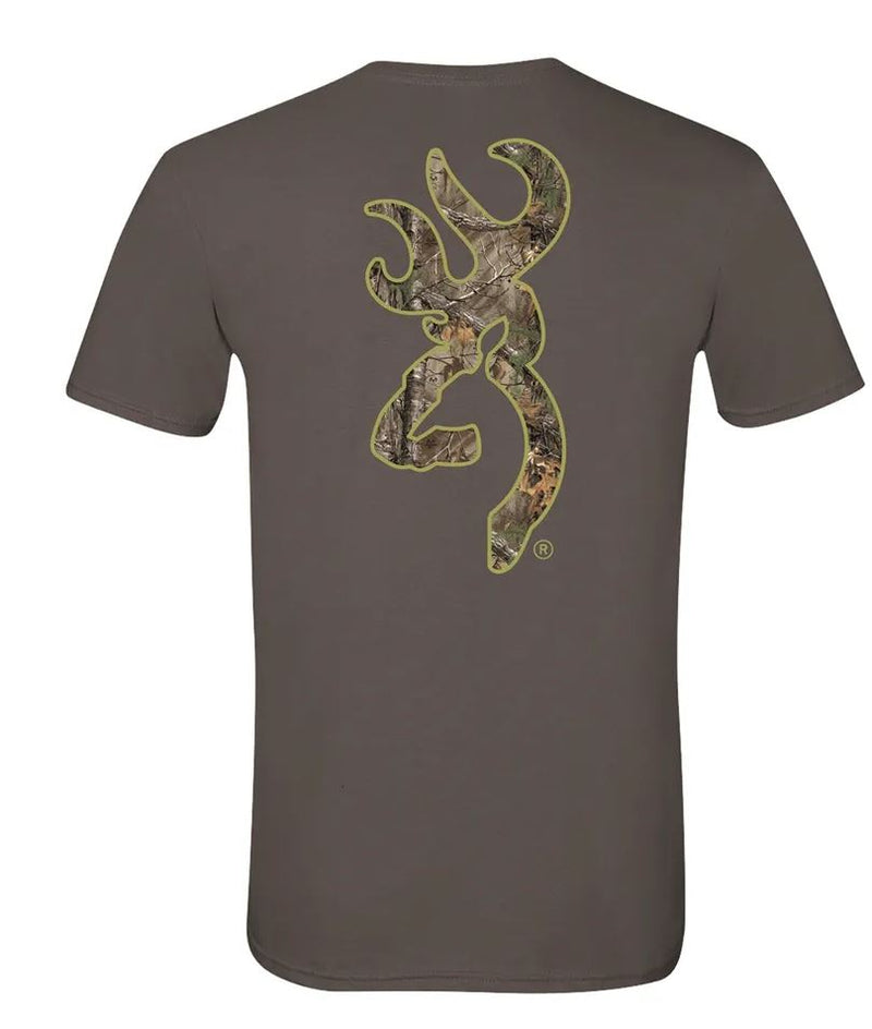 Browning Realtree Xtra Buckmark T-Shirt - Charcoal