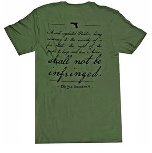 Glock AP95652 2nd Amendment T-Shirt - OD Green - XXL