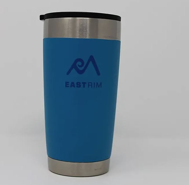 East Rim Pint Glass 17 oz Blue