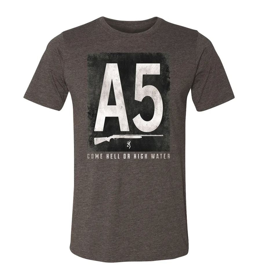 Browning Men's Block A5 T-Shirt - Charcoal