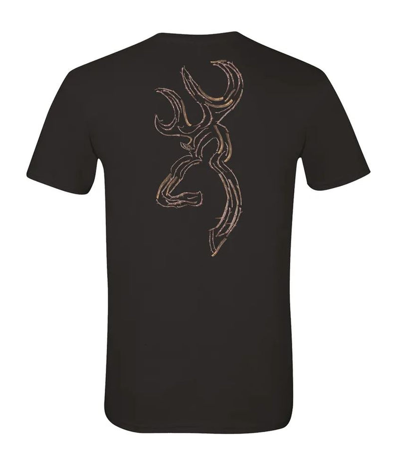 Browning Men's Twig Buckmark T-Shirt - Black
