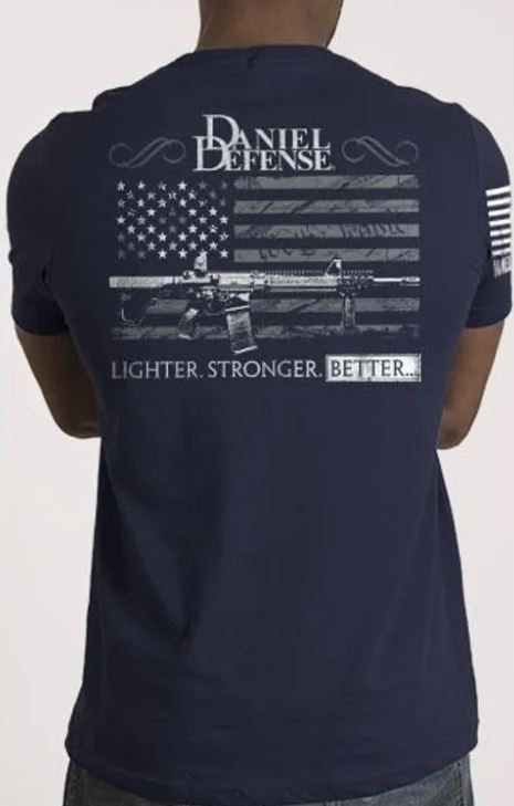 9 Line Men's Daniel Defense T-Shirt - Navy - Medium